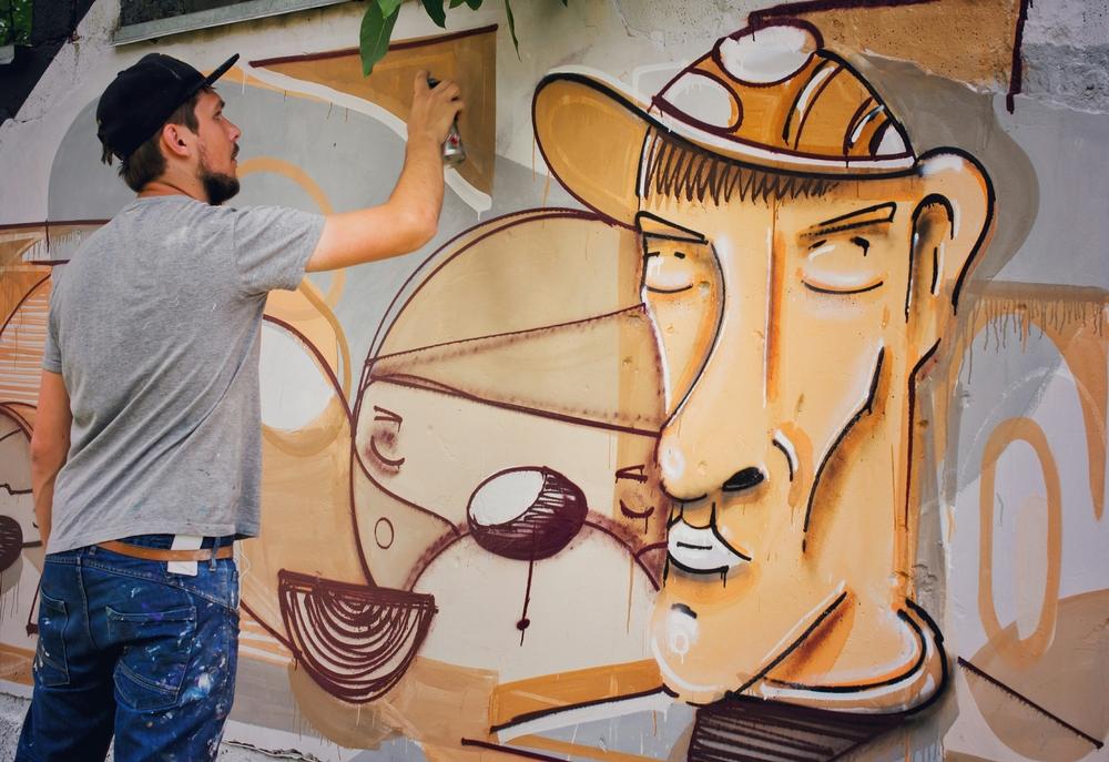 Man Posing Painting