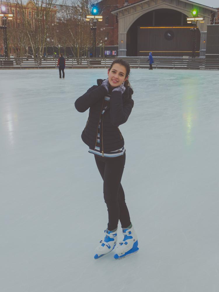 Woman Posing Skating